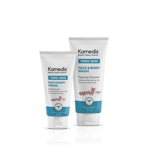 ערכה טיפולית לעור אטופי ויבש הקלה ולחות לעור מגורה ויבש TOPIC SKIN KIT 2 המוצרים בגודל מלא