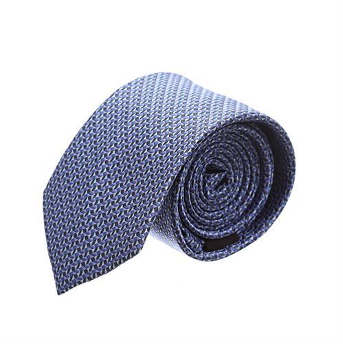 """עניבה """"סימטריה"""" כחול שחור"""