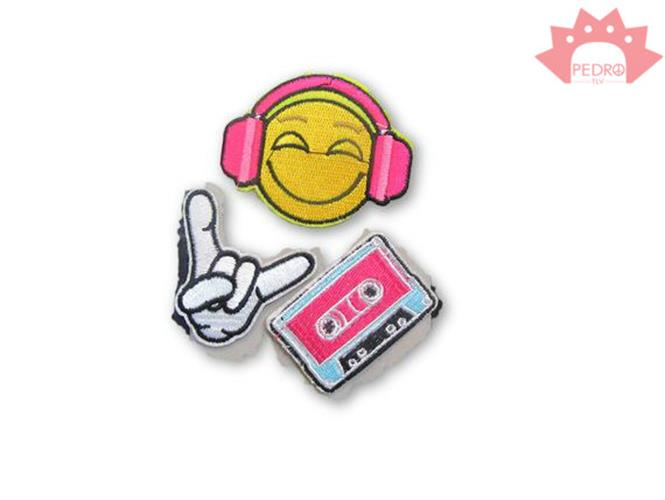 פאטצ'ים מוזיקה - אימוג'י לתיק - אפליקציות לגיהוץ