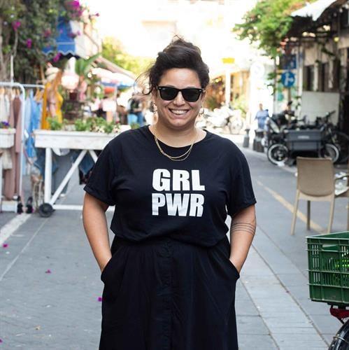 חולצת grl pwr גזרה אוברסייז