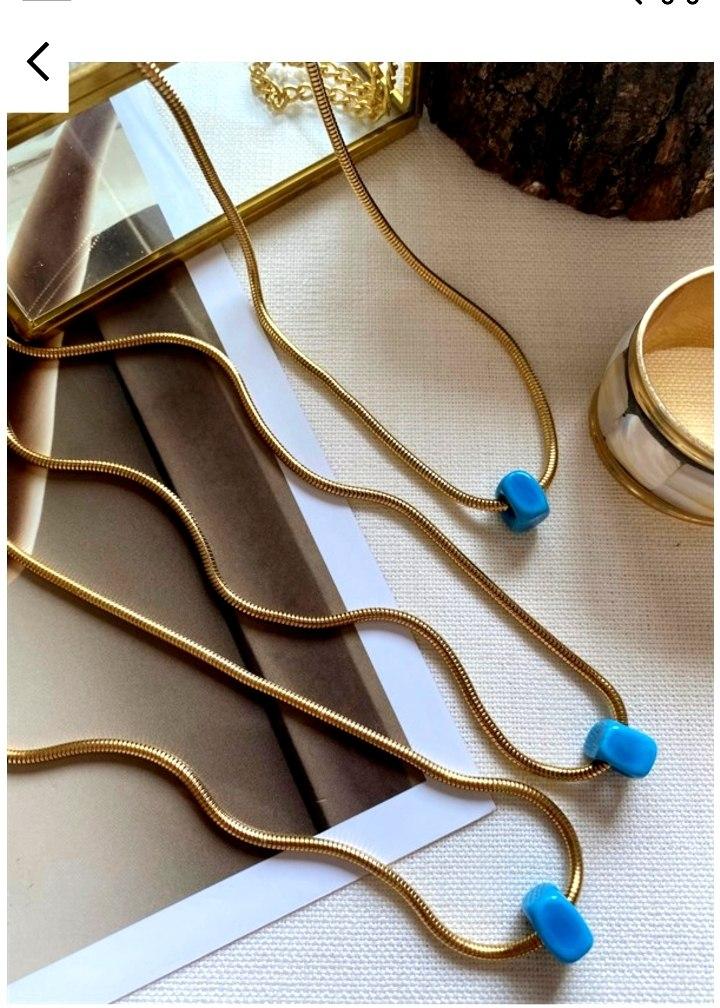 שרשרת נועם עם חרוז כחול