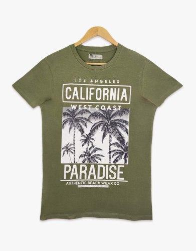 חולצת טריקו גברים מודפס CALIFORNIA