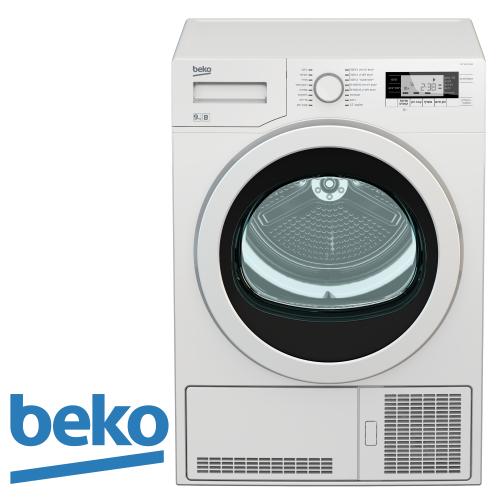 """מייבש כביסה 9 ק""""ג עם חיישנים וקונדנסור + אפשרות ניקוז beko  דגם: DCY9502GXB3"""