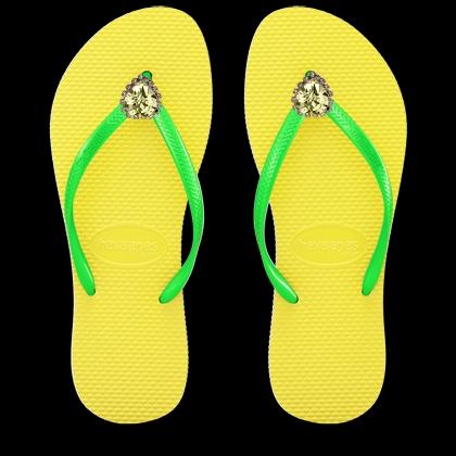 כפכפי לב גדול - צהוב/ירוק YELLOW/GREEN