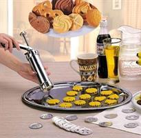 אקדח עוגיות עם 20 תבניות נשלפות לעיצובים מדליקים של כל סוגי העוגיות