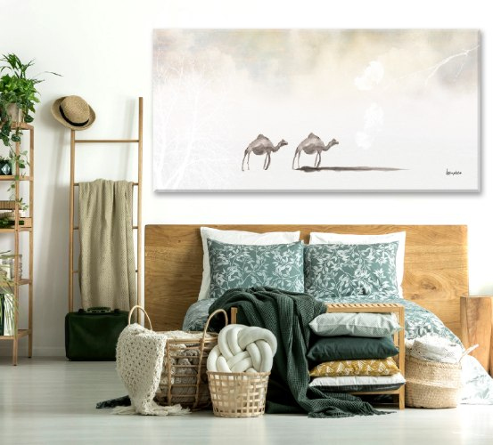 גמלים במדבר • קנבס