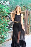 חצאית מקסי וחולצת בטן בת מצווש