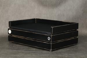 מיטה לכלב - דינגו שחור ווש עם לייסט נוסף M