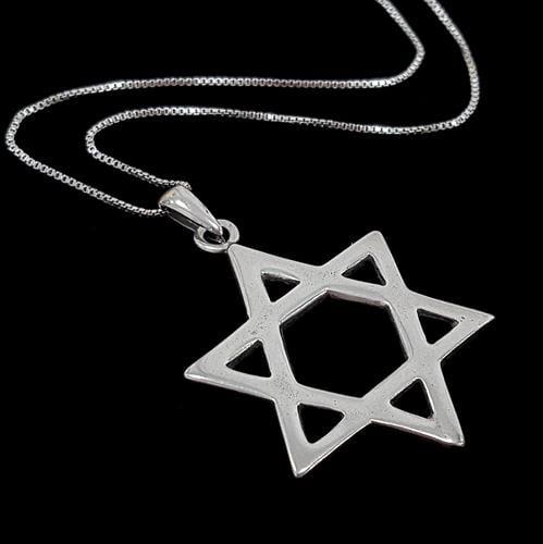 מגן דוד ושרשרת כסף T7311 | תכשיטי כסף 925