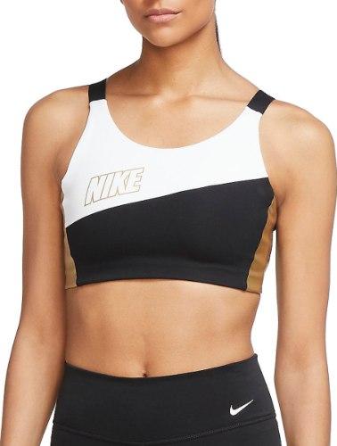 NIKE SWOOSH גוזיית ספורט עם תמיכה צבע שחור|לבן