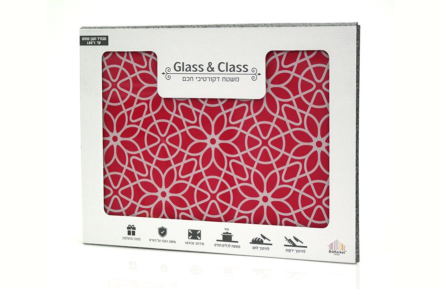 משטח זכוכית דקורטיבי