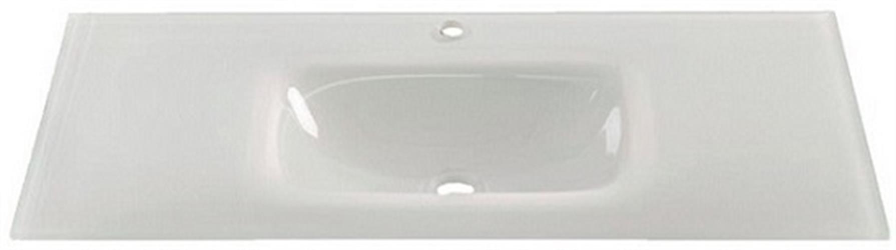 משטח כיור אינטגרלי זכוכית מידה 102/46