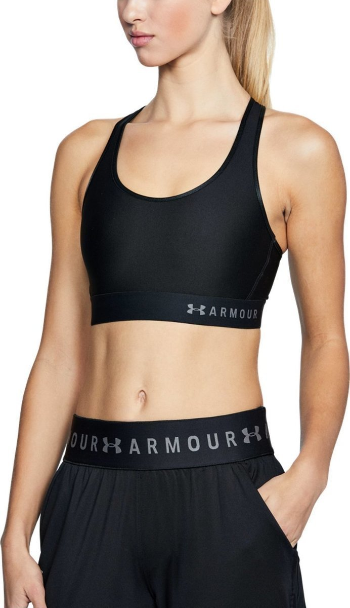 חזית ספורט אנדר ארמור1307196-001 Under Armour women's  Mid Keyhole sports bra