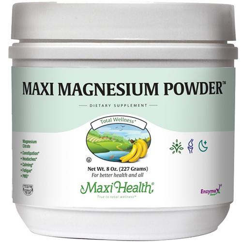 """-- מגנזיום ציטראט באבקה -- 500 מ""""ג, Maxi Health"""
