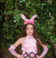 תחפושת ארנבת ורודה