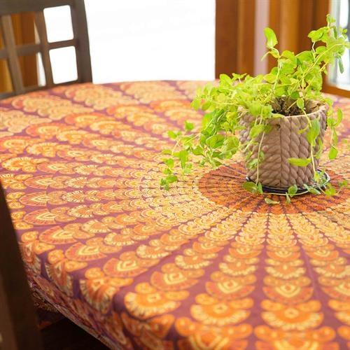 מפת שולחן מנדלה דקל חום