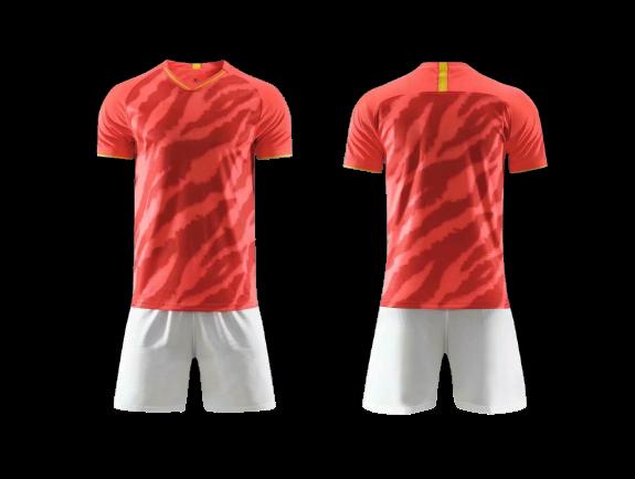 תלבושת הדמייה אדום לבן   (לוגו+ ספונסר שלכם)