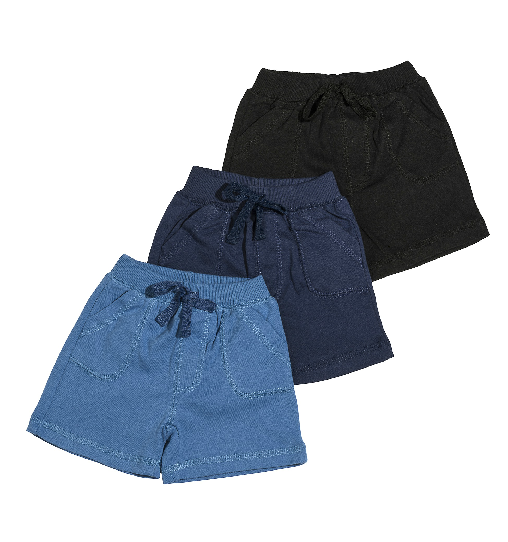 שלישיית מכנסיים 4457 שחור - נייבי - כחול