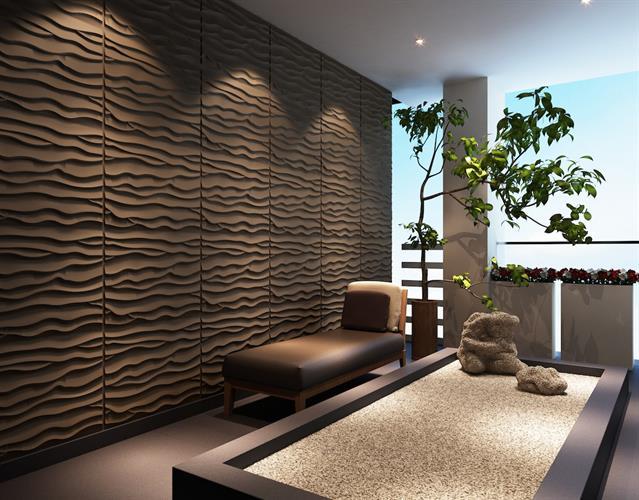 """חיפויי קיר תלת מימדי דגם ''Beach'' בגודל 62.5*80 ס""""מ"""