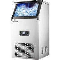 """מכונה מקצועית לייצור קוביות קרח 70 ק""""ג קרח ב 24 שעות 45 קוביות כל 12 דקות"""