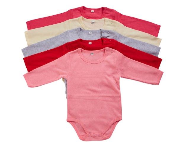 מארז 5 בגדי גוף פלנל ורוד-צהוב בננה- אפור מלאנג'- אדום - אפרסק