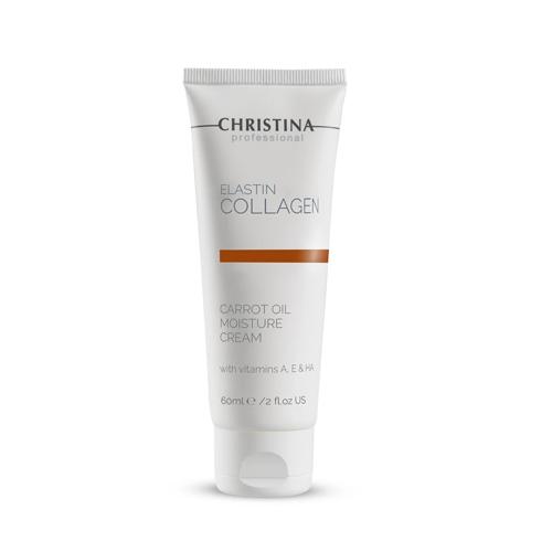 קרם לחות קליל עם שמן גזר לעור יבש - Christina Elastin Collagen Carrot Oil Moisture Cream