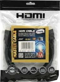 כבל HDMI ל- HDMI אורך 1.8 מטר 4K FULL HD 2.0V