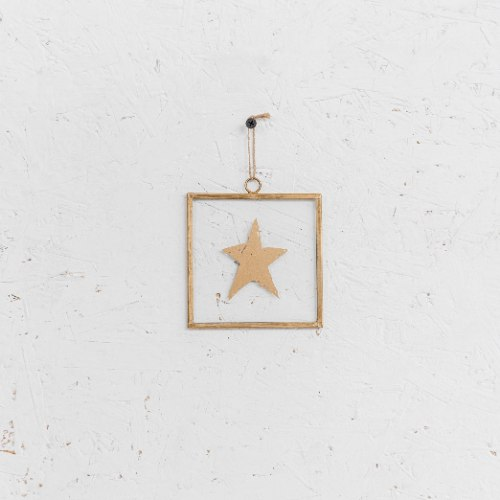 שלט זכוכית קטן - כוכב (זהב)