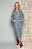 שמלת ג'ינס שילוב אבנים בכיס