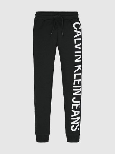 מכנס פוטר לוגו CK שחור