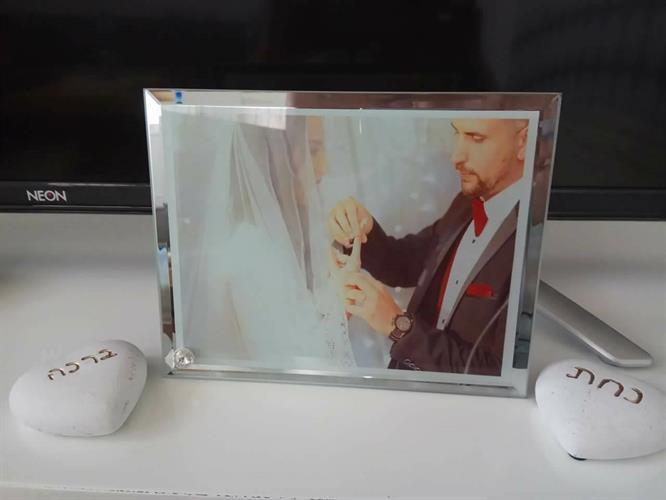 הדפסה על זכוכית מסגרת מראה (מעמד יהלום)