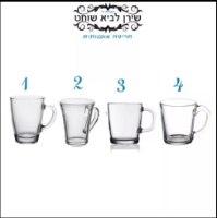 חריטה בעבודת יד על מגוון כוסות וספלים בהזמנה אישית