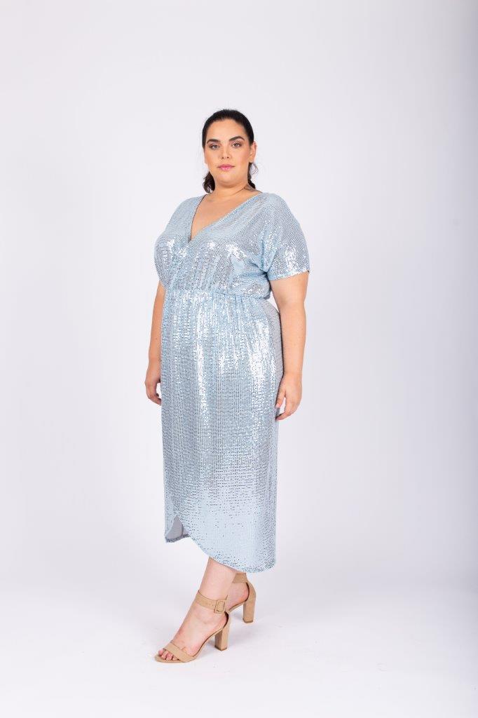 שמלת לורנה תכלת