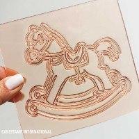 Rocking Horse Embosser Stamp | Flexible Embosser Polymer Stamps  | 2021 New Molds