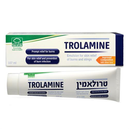 Trolamine תחליב להרגעת העור ולקירורו לאחר כוויות וצריבות 107 מל