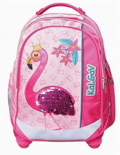 תיק גב פלמינגו פוקסיה/ורוד Schoolbag Flamingo