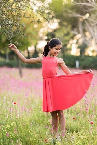 שמלה אריאל- כתומה