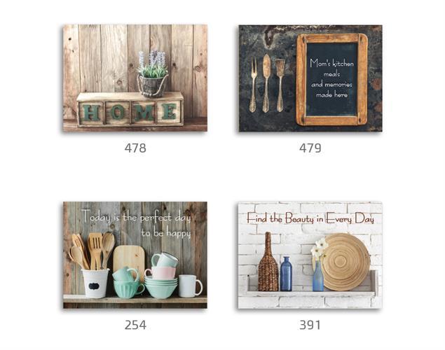 סט של 4 תמונות השראה מעוצבות לתינוקות, לסלון, חדר שינה, מטבח, ילדים - תמונות השראה מטבח