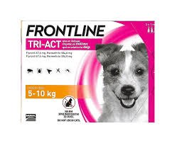 """אמפולות נגד פרעושים וקרציות פרונטליין טרי אקט לכלב במשקל 5-10 ק""""ג - FRONTLINE TRI ACT"""