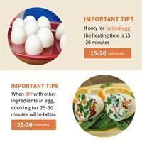 6 יח' לבישול ביצים קשות בלי הקליפה