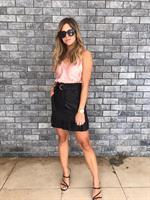 חצאית עור מיאמור