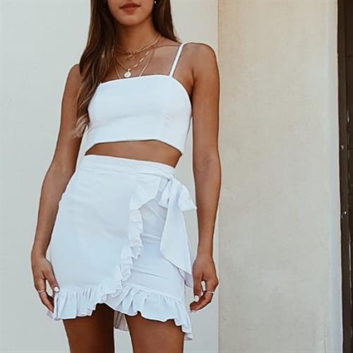 חליפת מרסיי מעטפת - לבנה