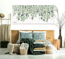 ציור בחדר שינה נורדי