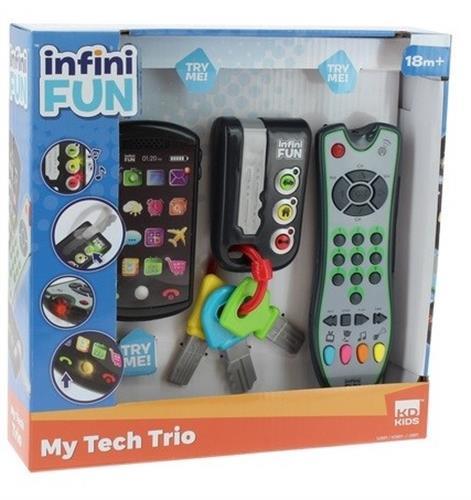 שלט טלוויזיה שלט רכב עם מפתחות ופלאפון חכם מבית INFINI FUN