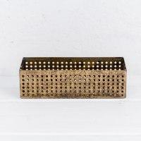 קופסה פתוחה / כלי ממתכת מלבן - זהב
