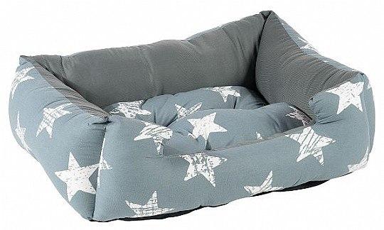 מיטה מלבנית כוכבים 40 סמ אפור