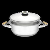 """סיר לבישול בריא בנפח 4 ליטר, קוטר 24 ס""""מ"""