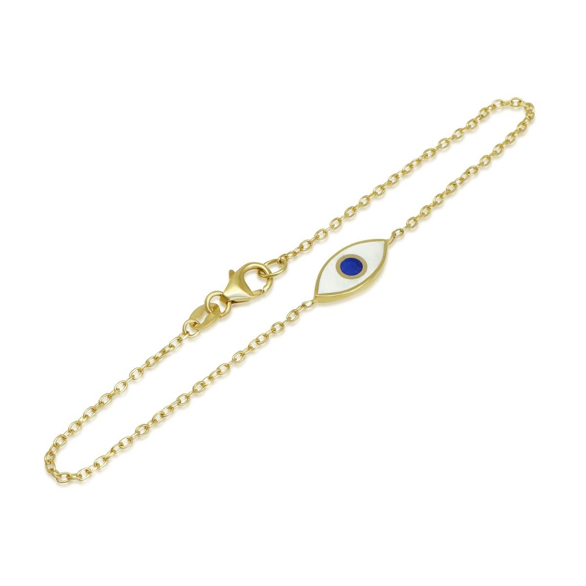 צמיד זהב עין הרע לנערה או אישה 14 קרט