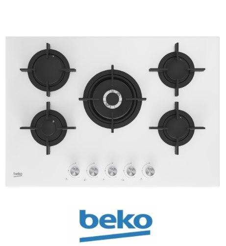 """beko כיריים גז 75 ס""""מ דגם: HILW75222SW"""