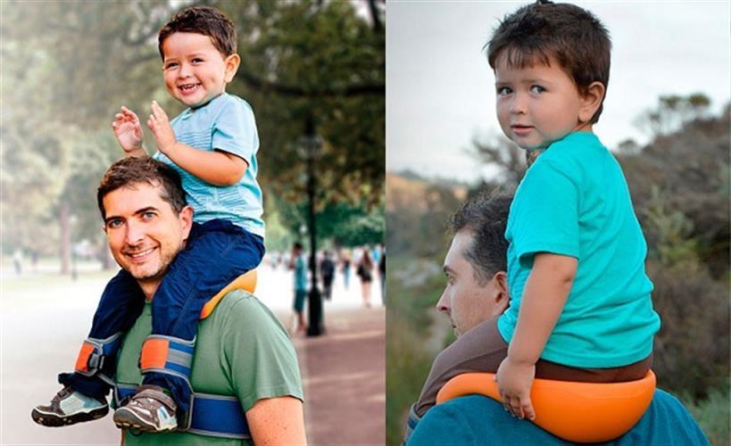 מנשא כתפיים (little fat (SaddleBaby מקורי לנשיאת ילדים בגילאי 2-5 שנים בקלות